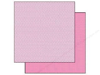 Simple Stories 12 x 12 in. Paper SN@P! Color Vibe Chevron & Mini Dot Pink