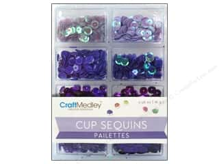 Craft Medley 7 mm Cupped Sequins Viola