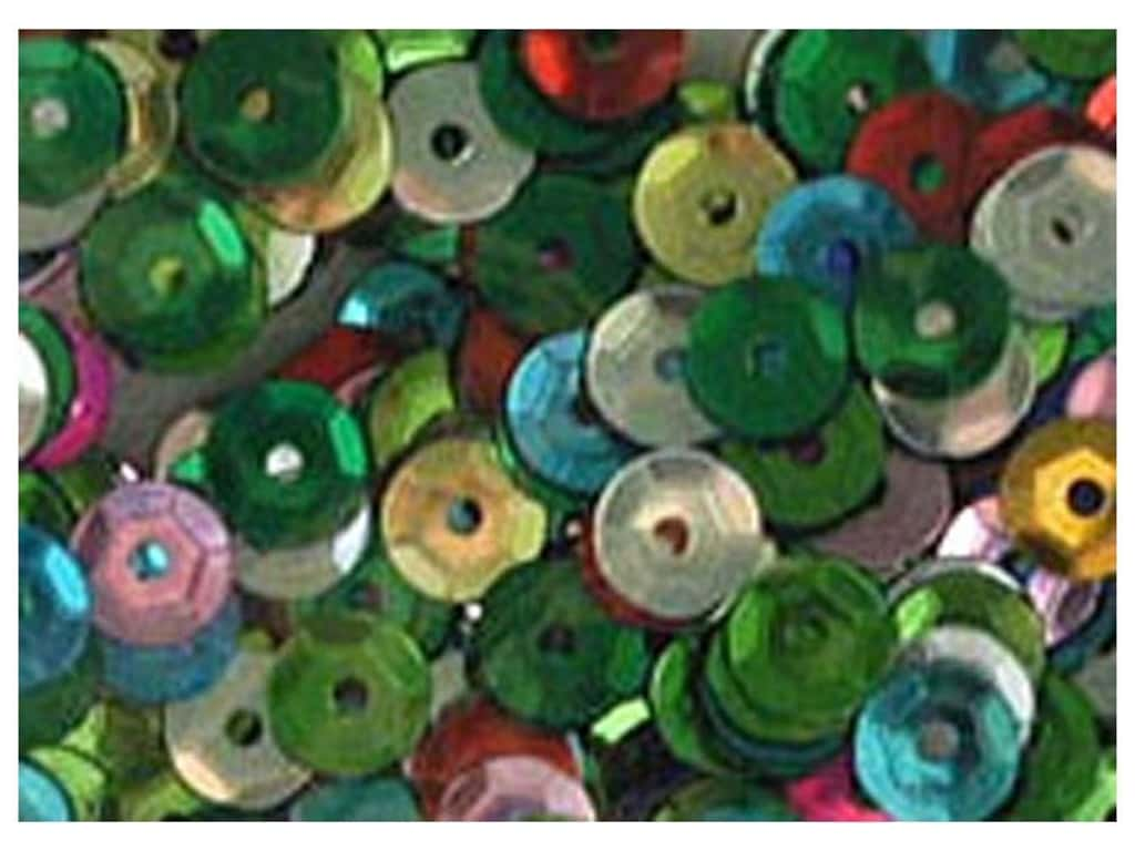 Accent Design 8 mm Cupped Sequins 200 pc. Multi AD11300P.1