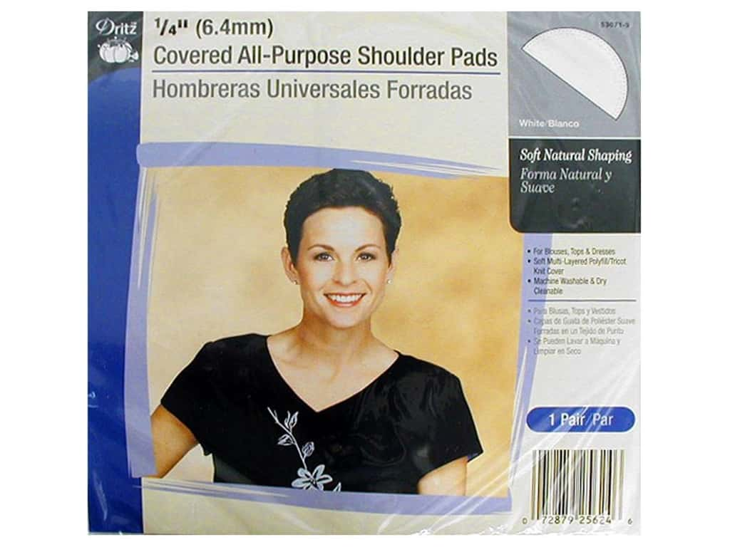 Covered All Purpose Shoulder Pads by Dritz 1/4 in. White 53071-1