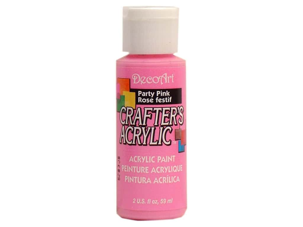 DecoArt Crafter's Acrylic Paint 2 oz. #98 Party Pink DCA.98