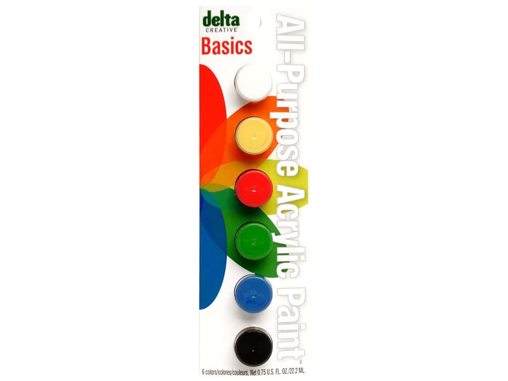 Delta Paint Pot Acrylic Basic 6 Color