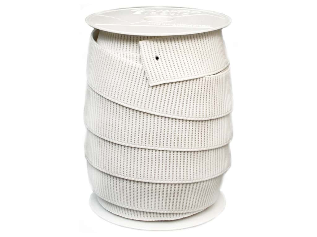 Stretchrite Non-Roll Ribbed Elastic 1 1/2 in. x 20 yd White 1NSS1628WHTE