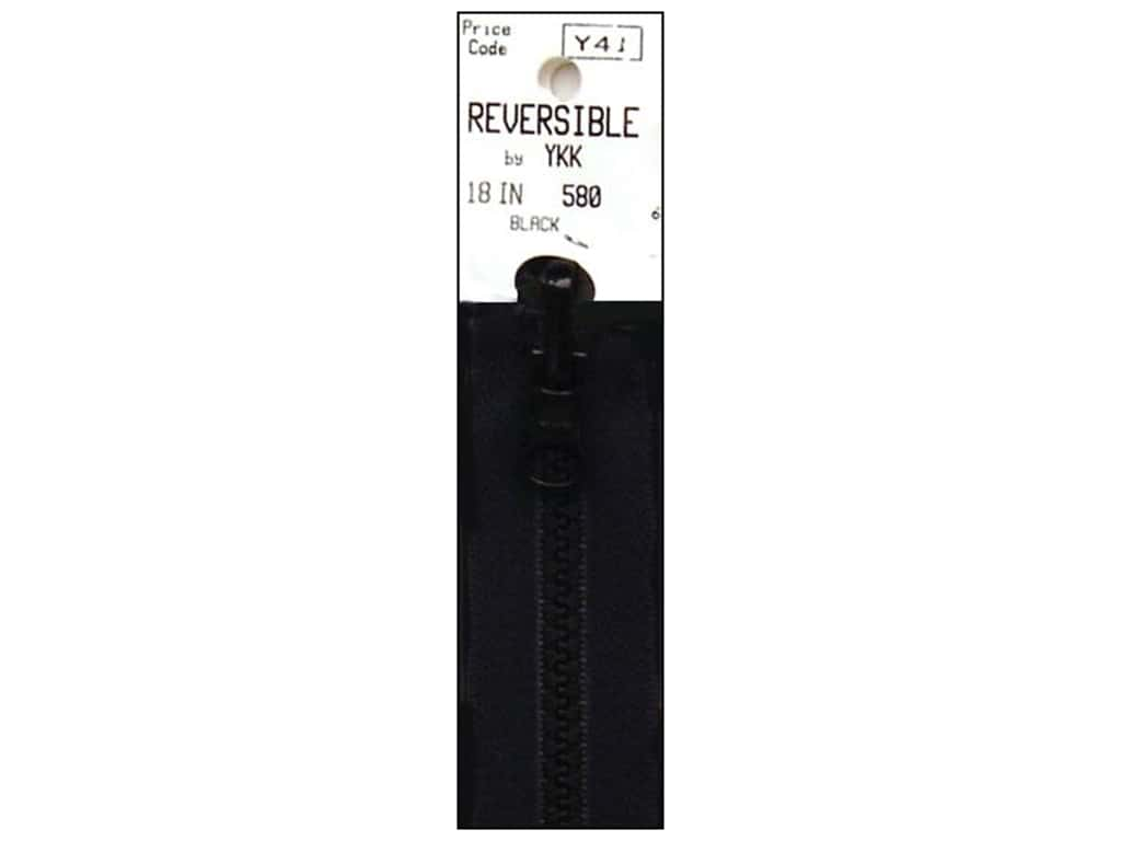 "YKK Vislon Reversible Zipper 18"" Black"