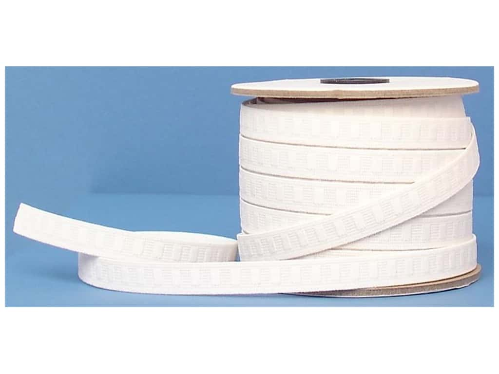 Conrad Jarvis No Roll Elastic Reel 1/2 in x 30 yd White