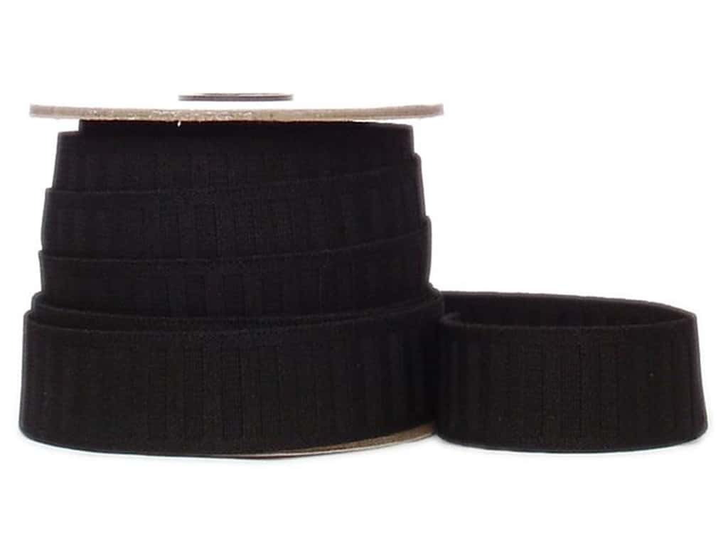 Conrad Jarvis No Roll Elastic Reel 1 1/4 in x 12 yd Black