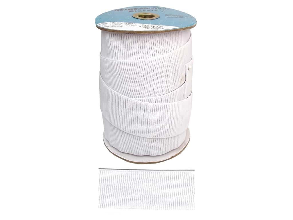 Stretchrite Non-Roll Ribbed Elastic 2 in. x 15 yd White 1NSS1629WHTE