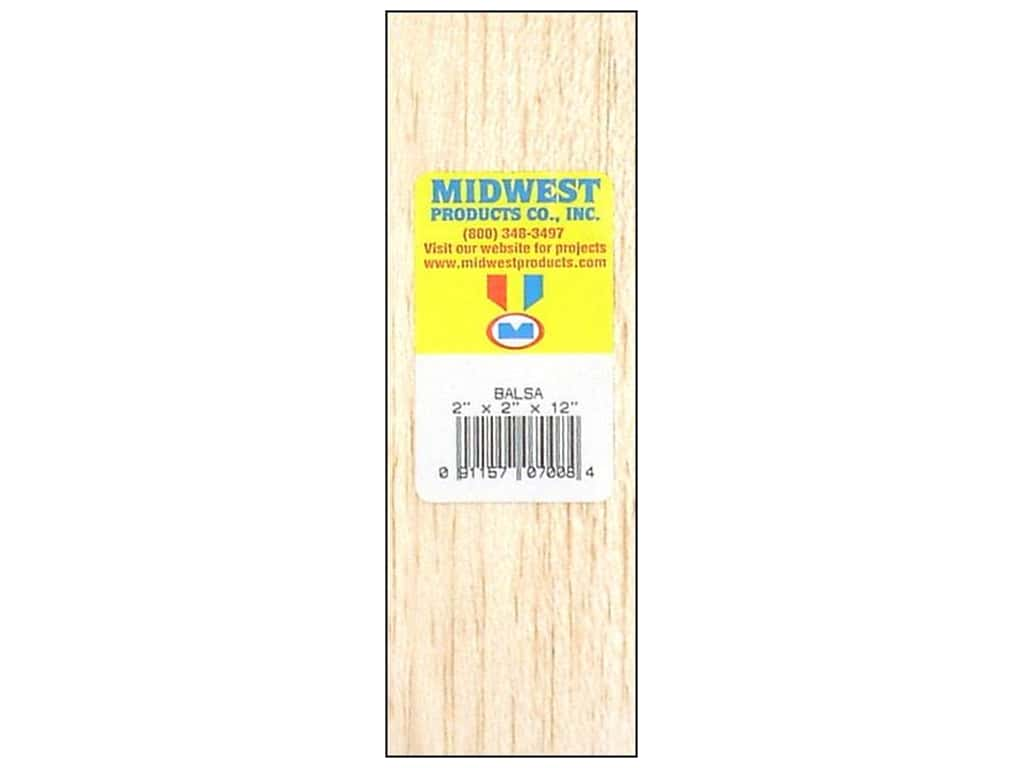 Midwest Balsa Wood Block 2 x 2 x 12 in. 7008