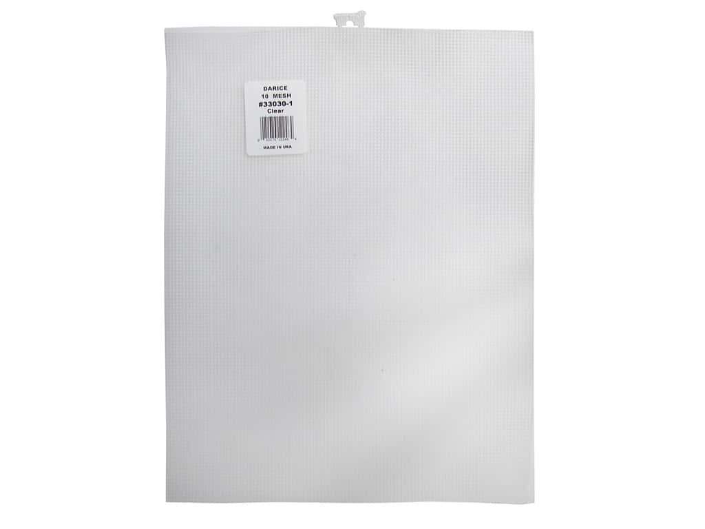 Darice Plastic Canvas #10 Mesh 10 1/2 x 13 1/2 in. Clear 33030-1