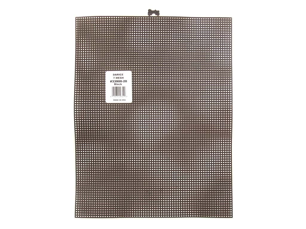 Darice Plastic Canvas #7 10 1/2 x 13 1/2 in. Black 33900-20