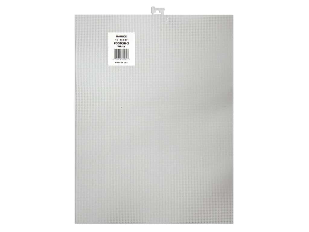 Darice Plastic Canvas #10 Mesh 10 1/2 x 13 1/2 in. White 33030-2
