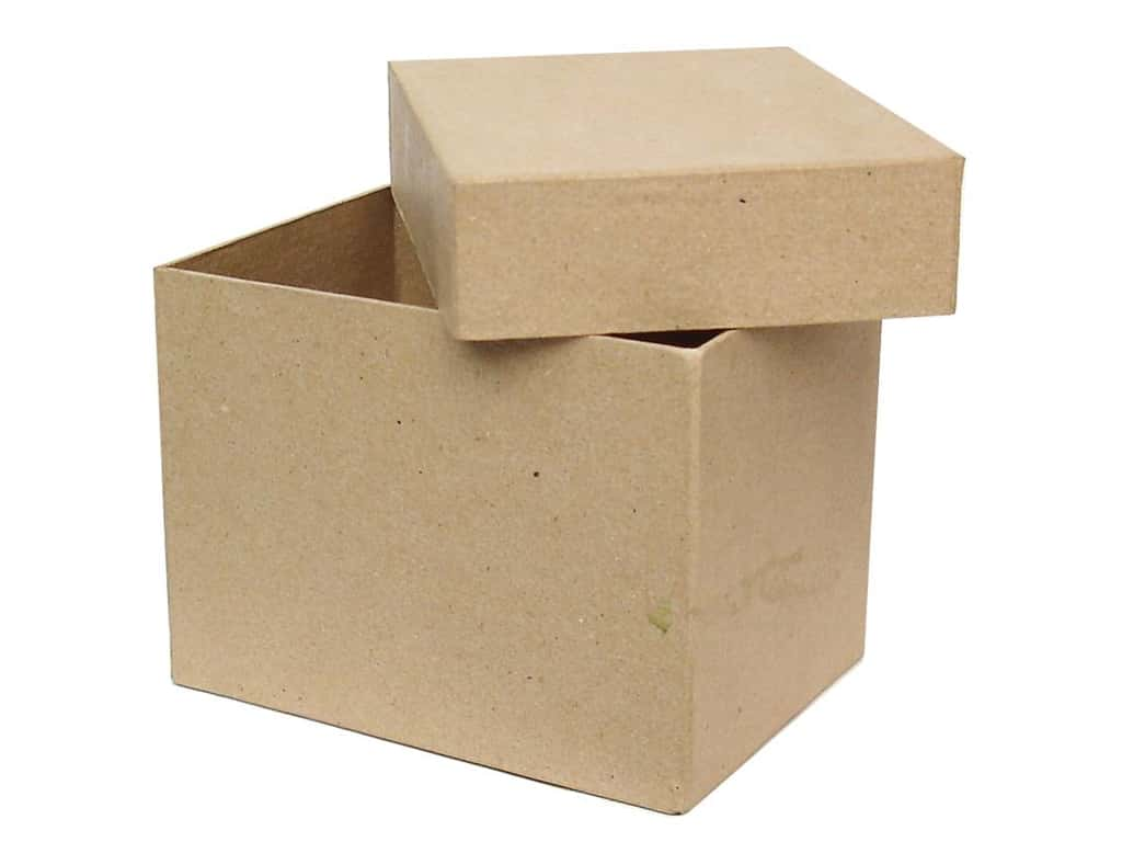Paper mache tall rectangle box by craft pedlars 12 boxes ebay