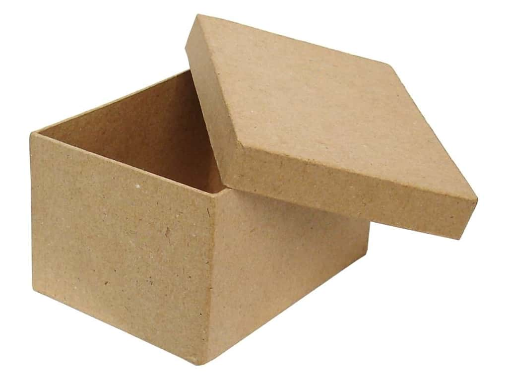 Paper mache rectangle box 4 1 2 in 24 boxes ebay for Craft paper mache boxes