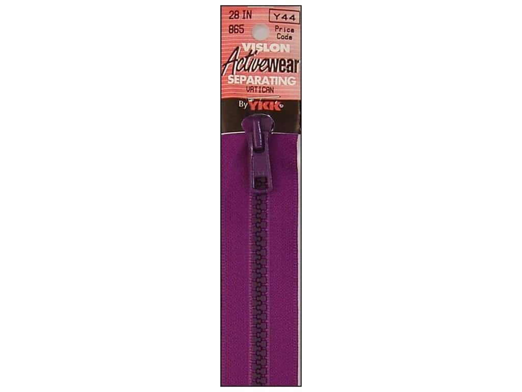YKK Vislon 2-Way Separating Zipper 28 in. Lipstick VISLON.28.516
