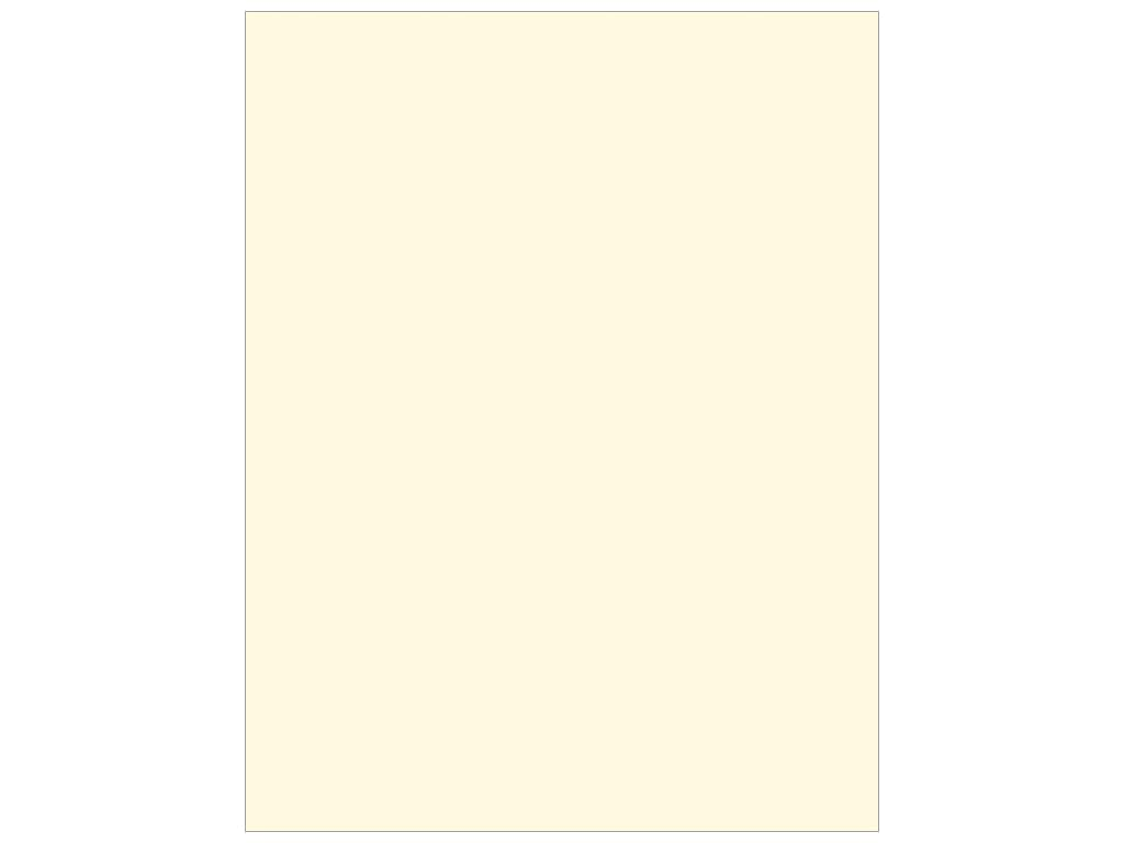 ColorMates Cardstock 8 1/2 x 11 in. Smooth Ivory