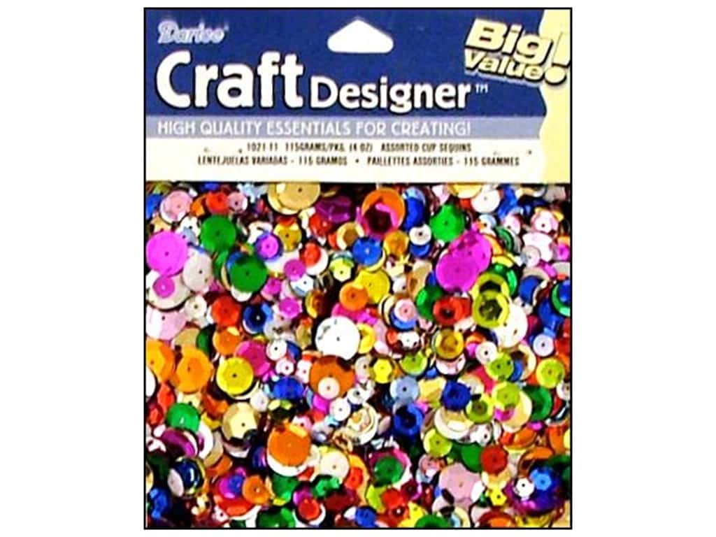 Darice Cup Sequins 4 oz. Assorted 1021-11