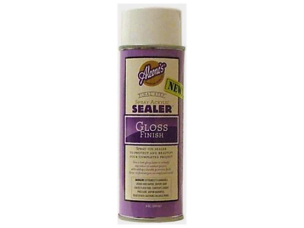 Aleene 39 s acrylic sealer spray 6 oz gloss ebay for Waterproof acrylic sealer for crafts