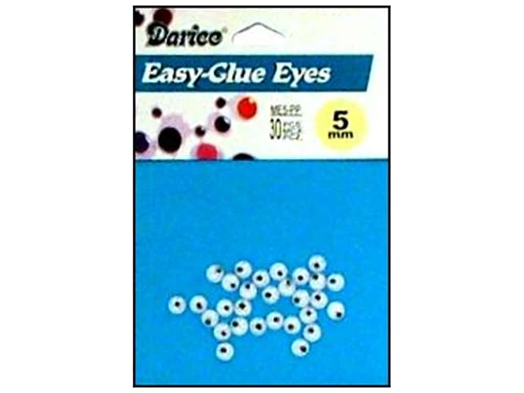 Darice Googly Eyes Paste-On 5 mm Black 30 pc. ME5-PP