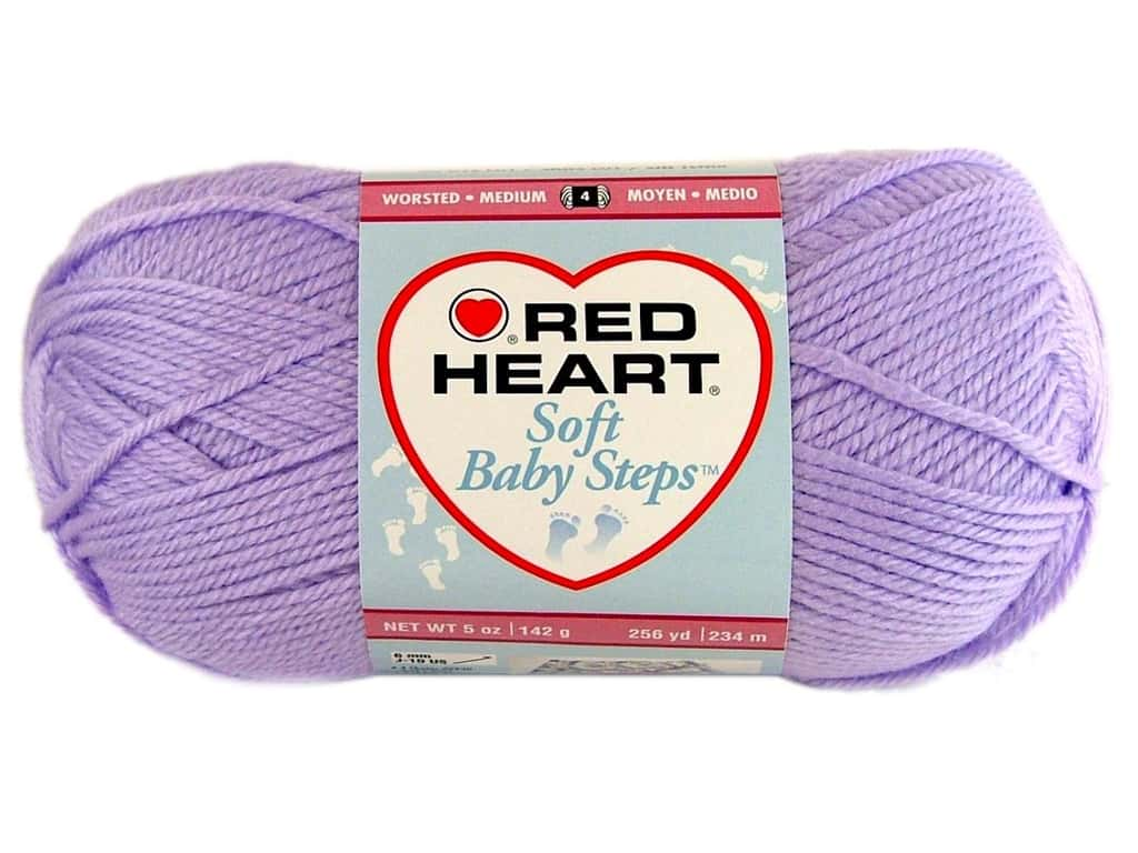 Red Heart Soft Baby Steps Yarn 9590 Lavender 256 Yd Ebay