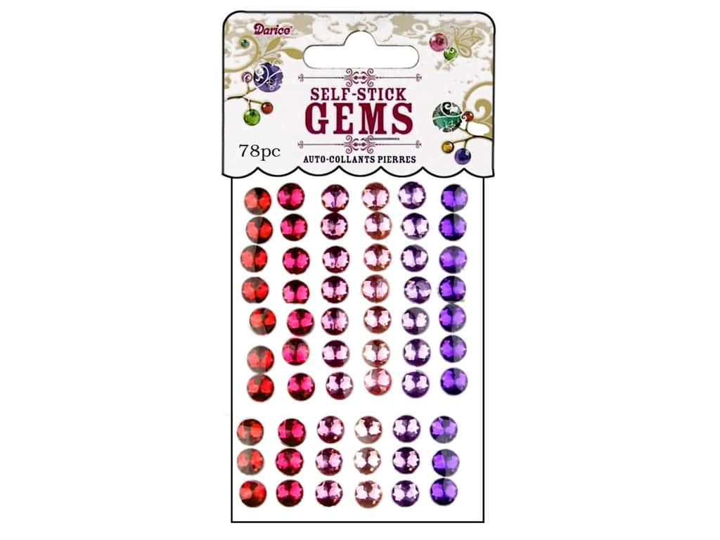 Darice Self-Stick Gems 6 mm Round 78 pc. Princess 1213-42