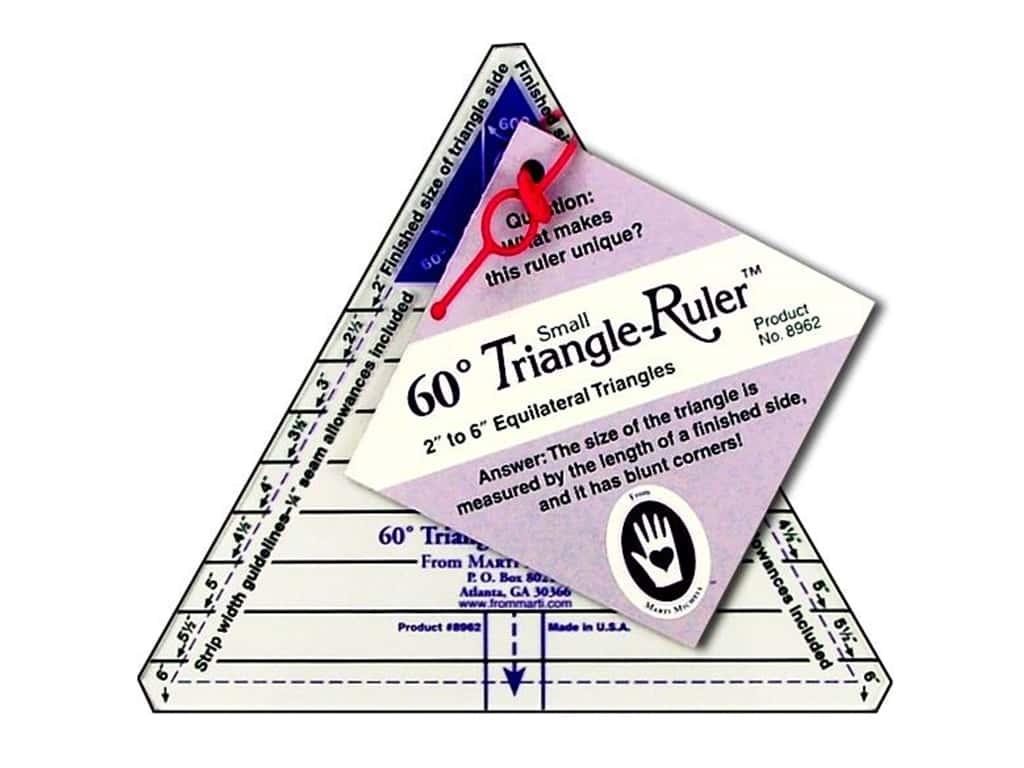 marti michell 60degree triangle ruler small ebay