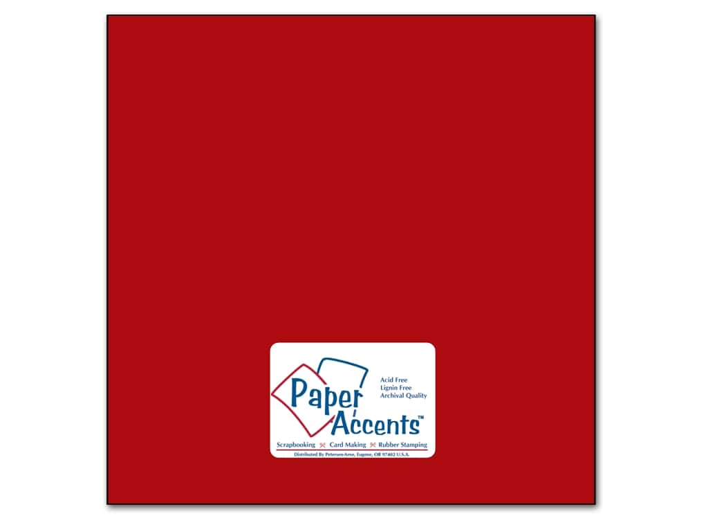 Cardstock 12 x 12 in. #89 Smooth Schoolhouse Red by Paper Accents ADP1212-25.89