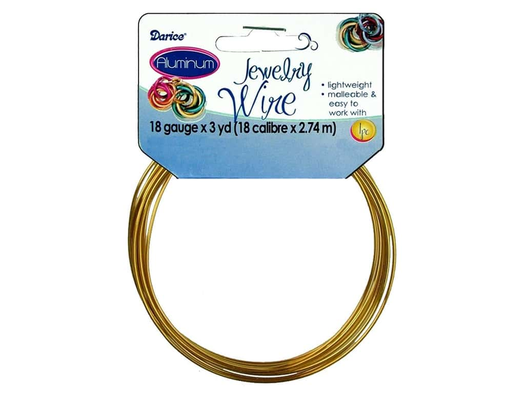 Darice Aluminum Jewelry Wire 18 Gauge Gold 3 yd. 1999-1562
