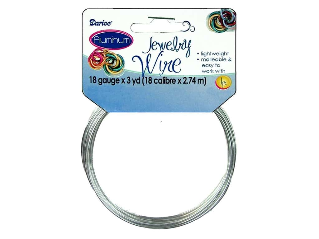 Darice Aluminum Jewelry Wire 18 Gauge Silver 3 yd. 1999-1563