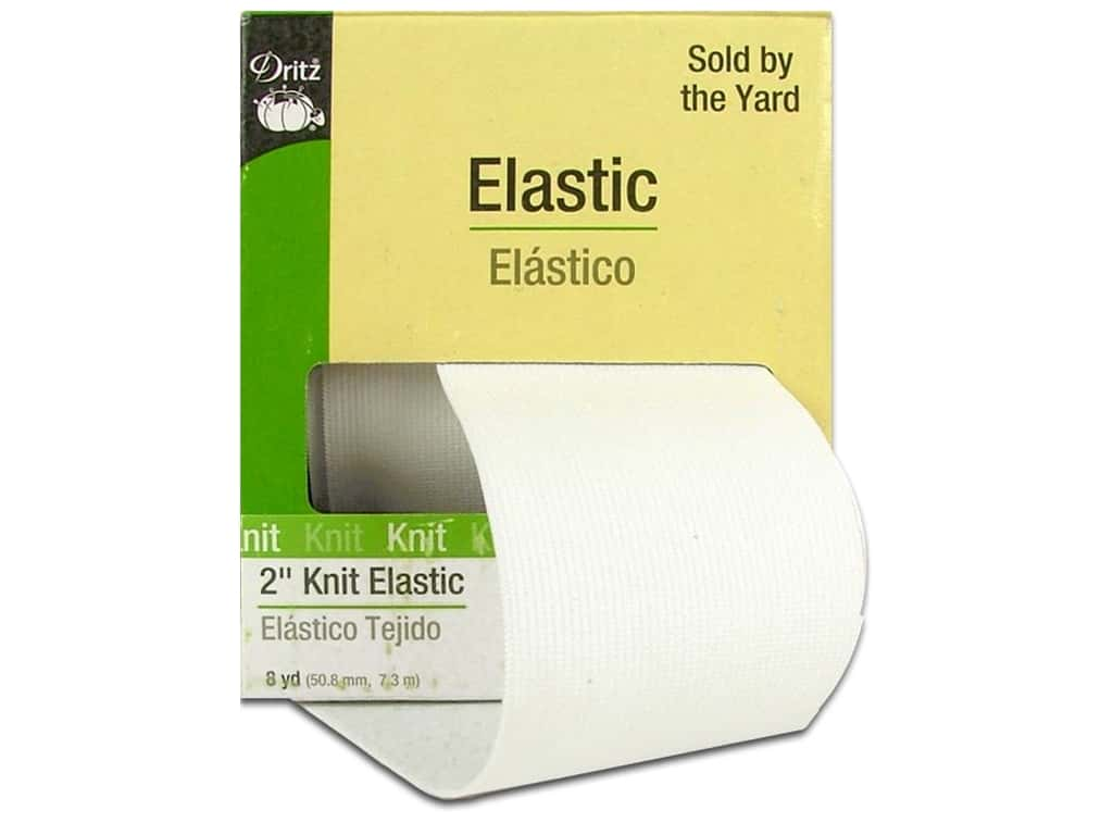 Knit Elastic by Dritz 2 in. White 8 yd. 9483W