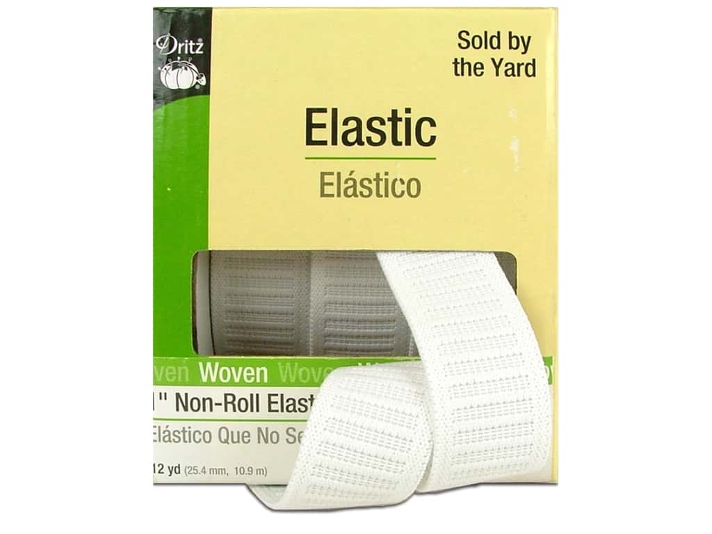 Non-Roll Elastic by Dritz White 1 in x 12 yd 9407W