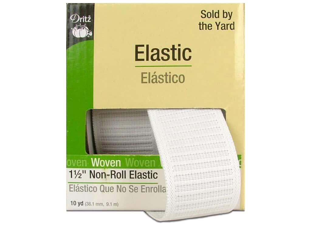 Non-Roll Elastic  by Dritz White 1 1/2 in x 10 yd 9480W
