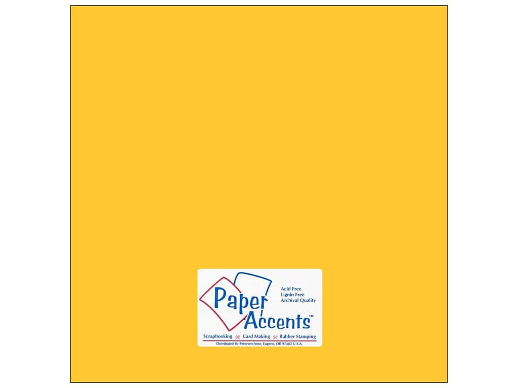 Cardstock 12 x 12 in. #105 Smooth Canary Yellow ADP1212-25.105