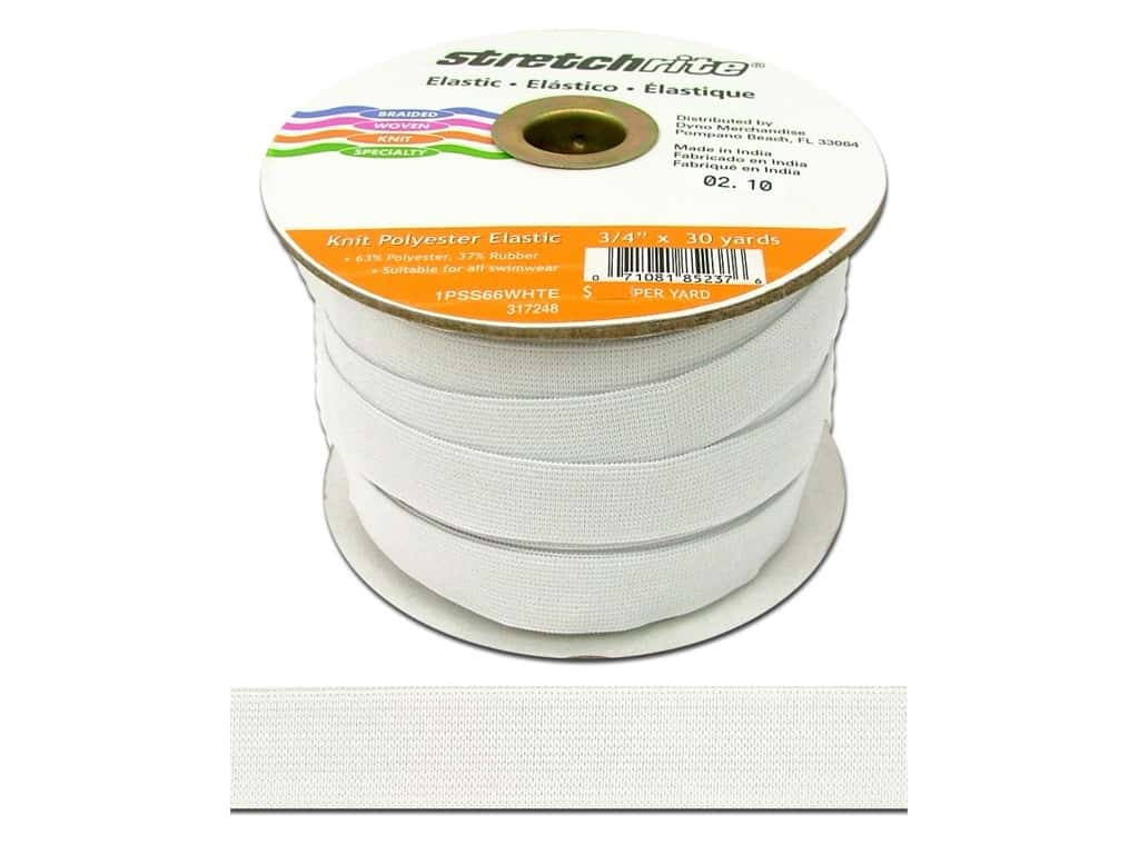 Stretchrite Knit Elastic 3/4 in. x 30 yd White 1NSS66WHTE
