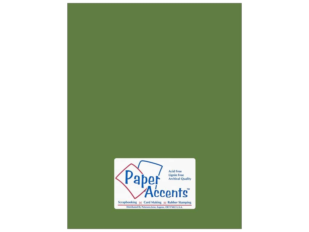 Cardstock 8 1/2 x 11 in. Smooth Guacamole by Paper Accents