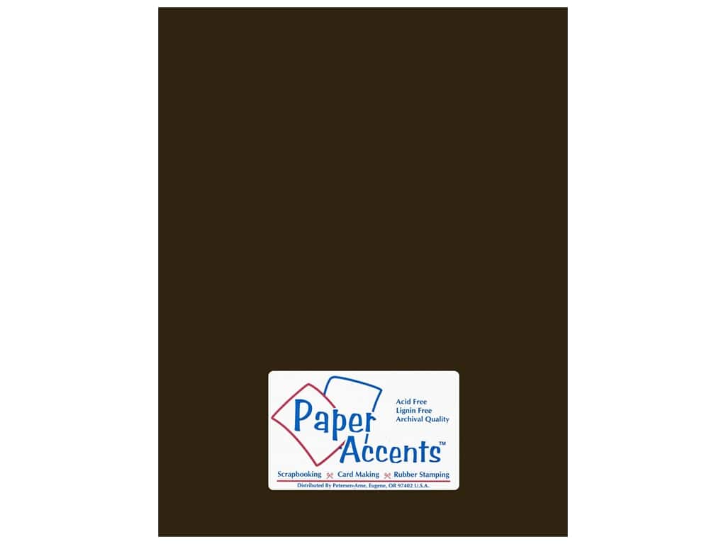 Cardstock 8 1/2 x 11 in. #18072 Smooth Bitter Chocolate by Paper Accents ADP8511-25.18072