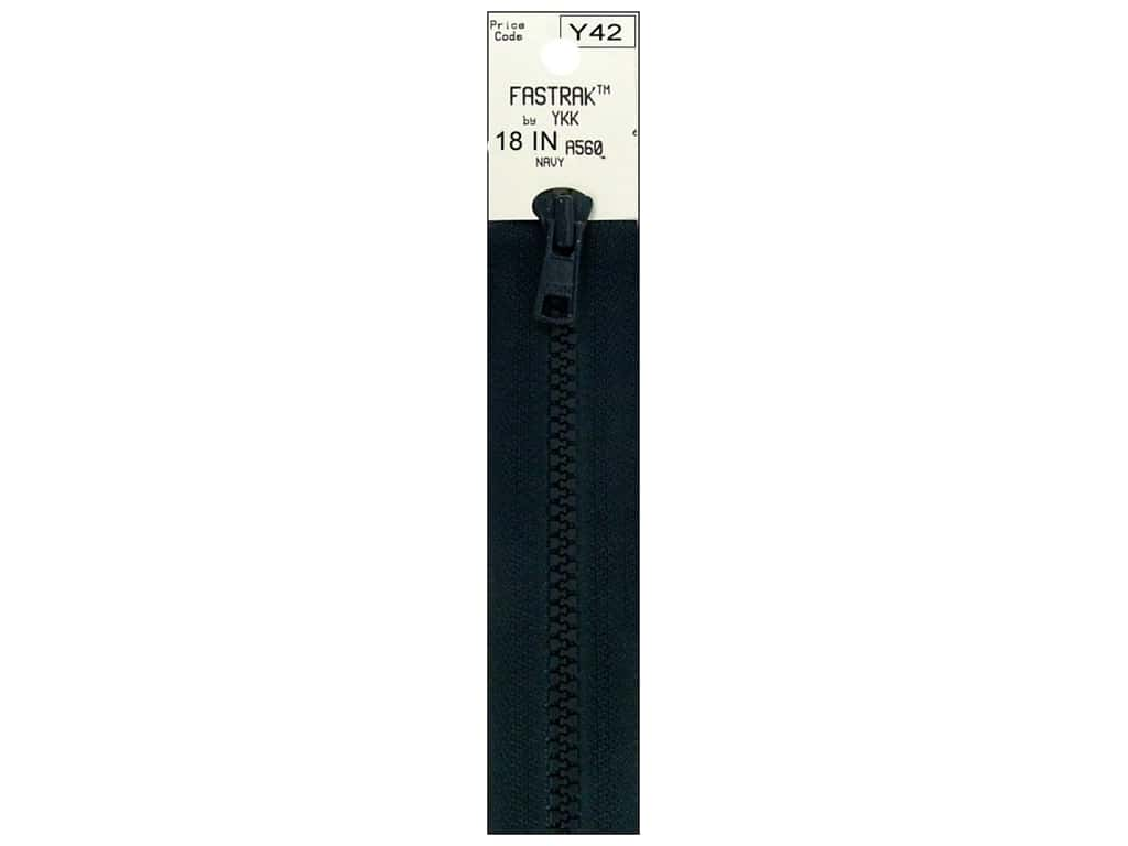 YKK Fastrak 1-Way Separating Zipper 18 in. Navy