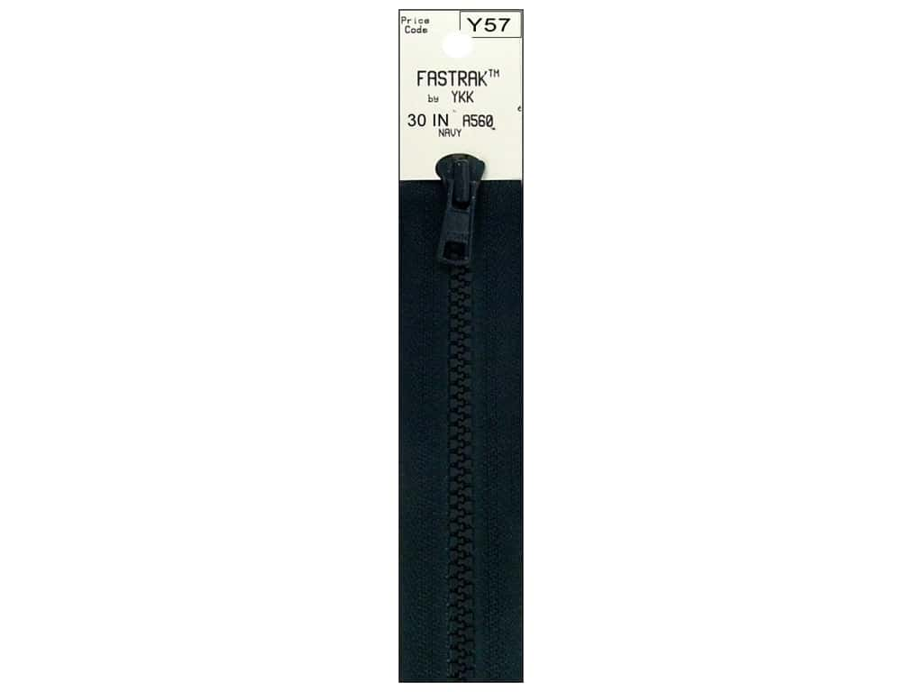 YKK Fastrak 1-Way Separating Zipper 30 in. Navy