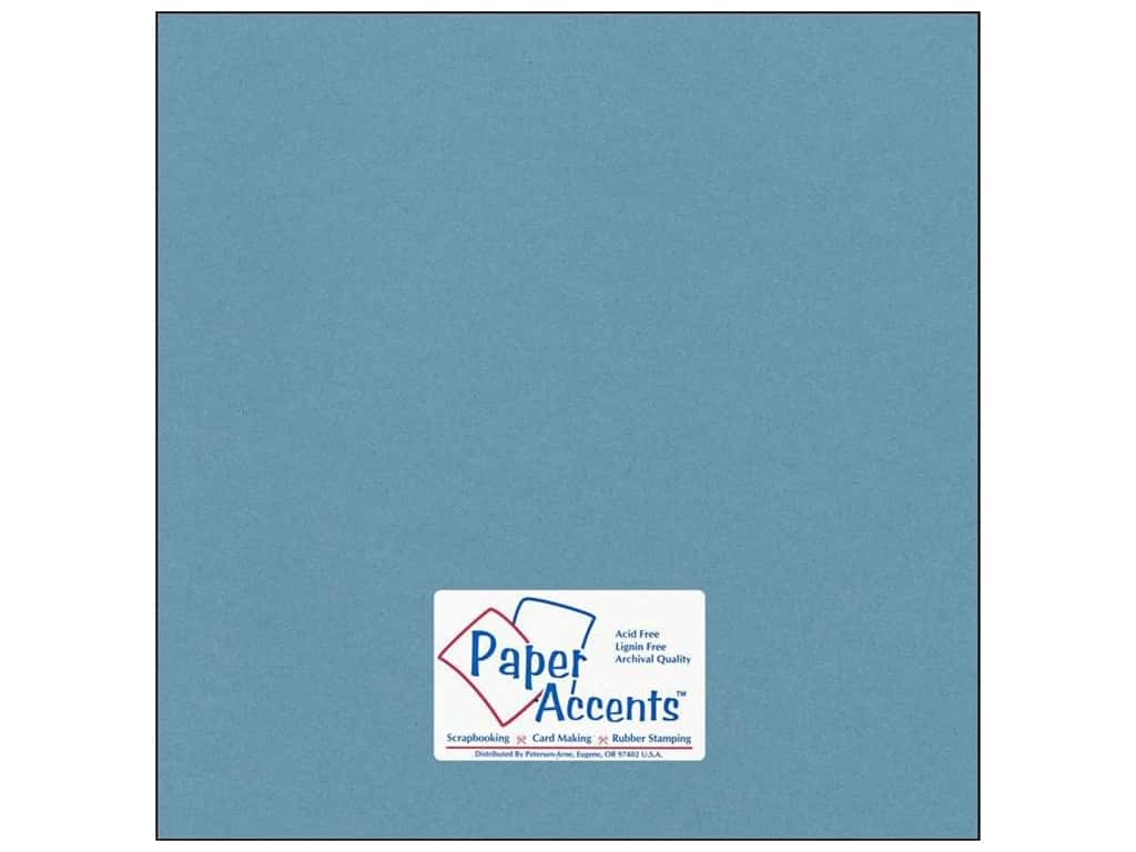 Cardstock 12 x 12 in. #77 Smooth Dusty Blue by Paper Accents ADP1212-25.77