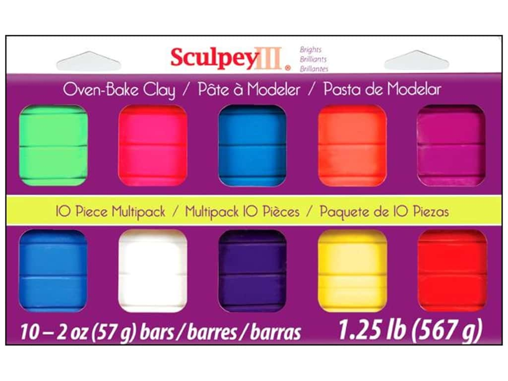 Sculpey III Clay Multipack 10 pc. Bright Ideas S3MP 0500-1
