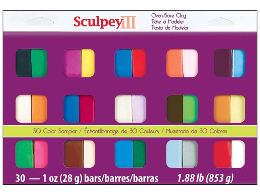 Sculpey III Polymer Clay Color Sampler 30 pc. S3 30-1
