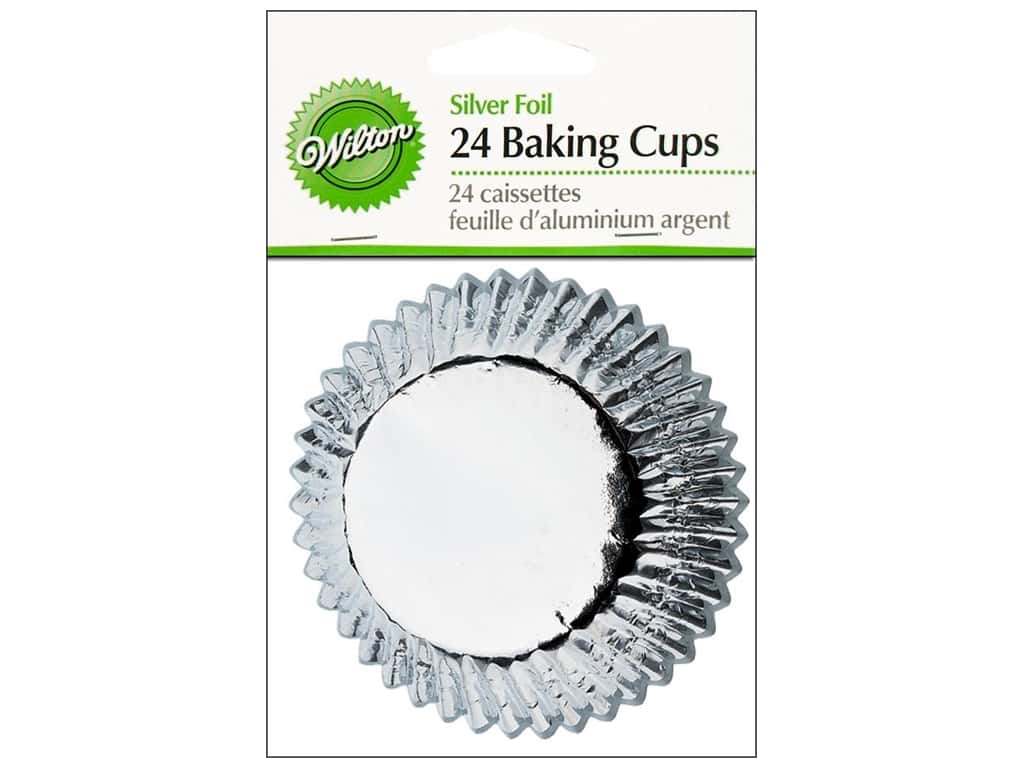 Wilton Standard Baking Cups Silver Foil 24 pc. 415-207