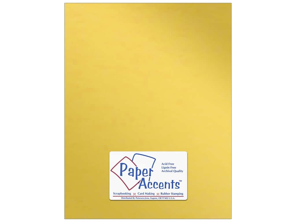 Paper Accents Anodized Cardstock 8 1/2 x 11 in. #8832 Gold Cup ADP8511-25.8832