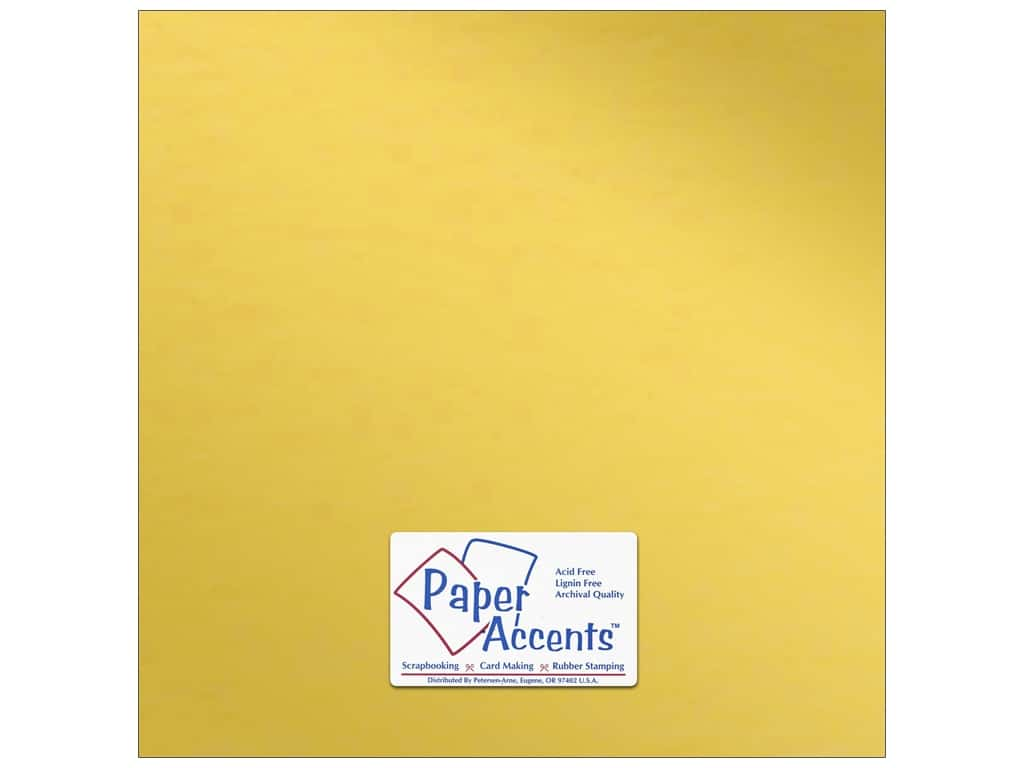 Paper Accents Anodized Cardstock 12 x 12 in. Gold Cup ADP1212-25.8832