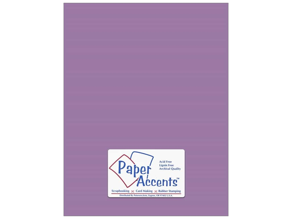 Cardstock 8 1/2 x 11 in. Smooth Orchid by Paper Accents