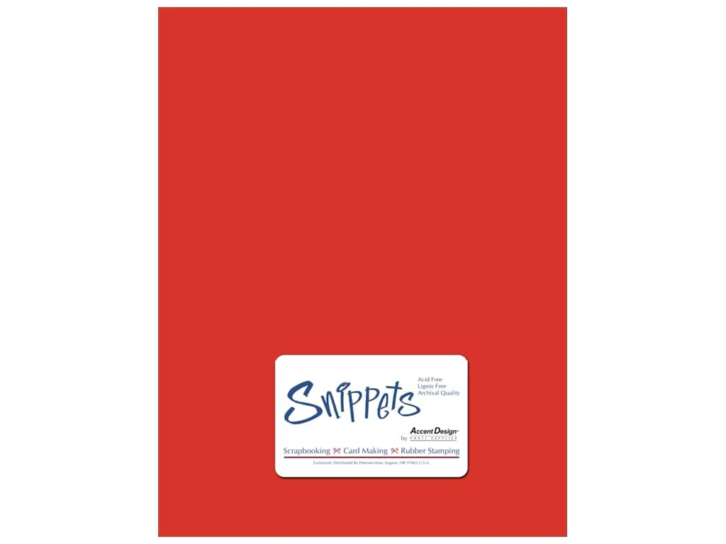Cardstock 8 1/2 x 11 in. #101 Smooth Red by Paper Accents 5 pc. ADP8511-25.101