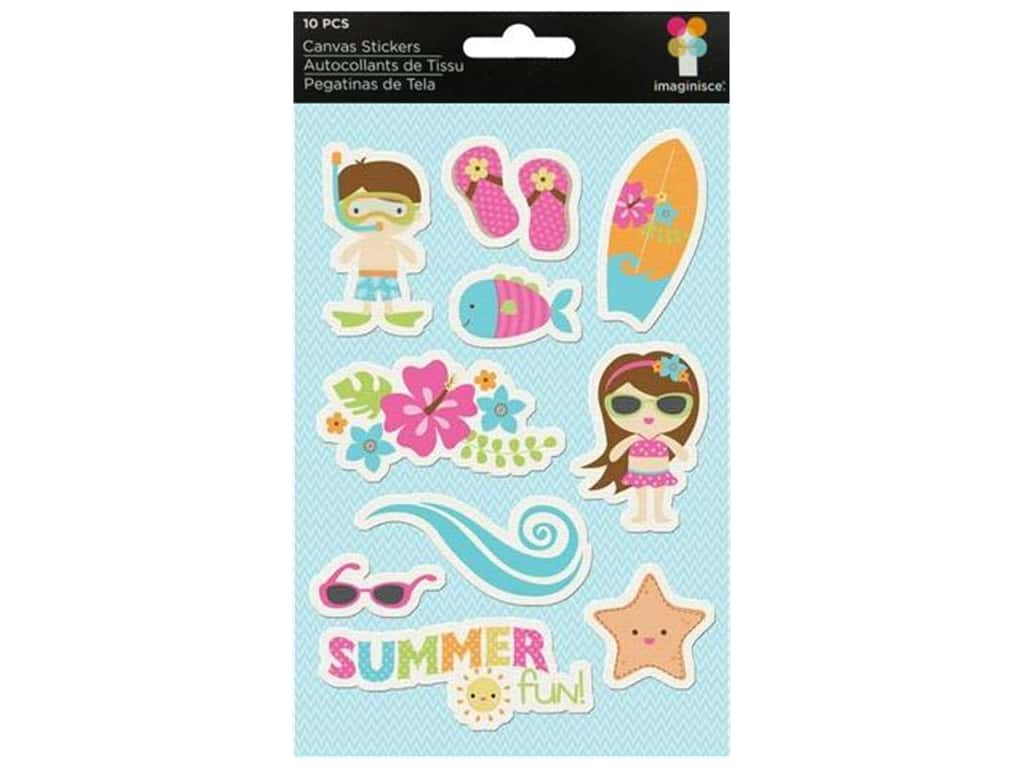 Imaginisce Stickers Makin' Waves Canvas Summer