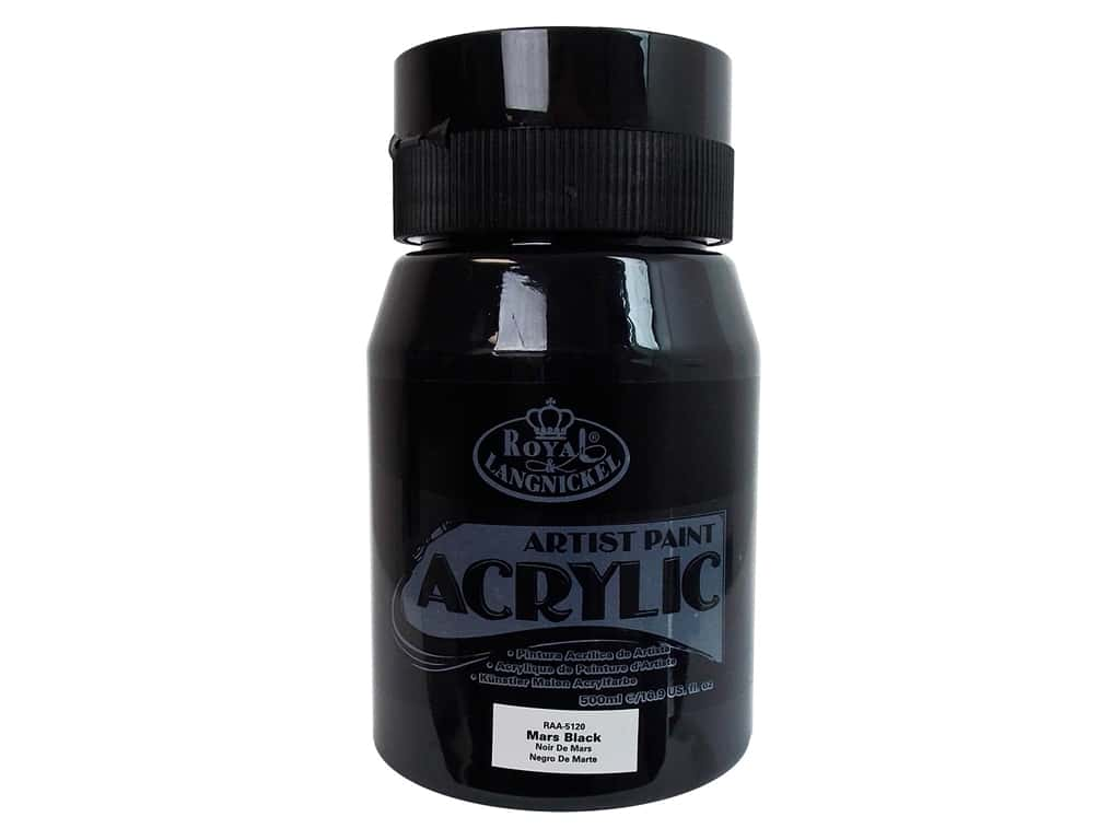 Essentials 16.9 Oz Acrylic Paint Color: Mars Black RAA-5120