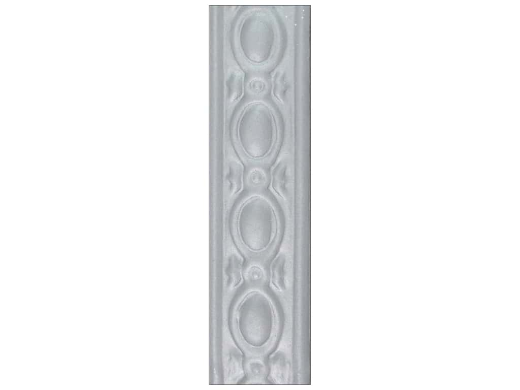 Sierra Pacific Crafts Decor Tin Strip Decorative 7/8 in. x 24 in.  Embossed Oval Natural