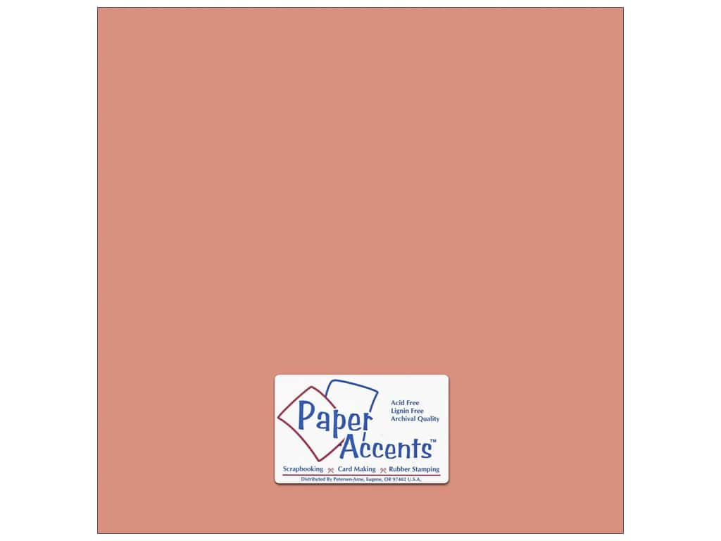 Cardstock 12 x 12 in. #67 Smooth Coral by Paper Accents ADP1212-25.67
