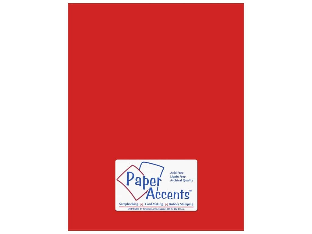 Paper Accents Cardstock 8 1/2 x 11 in. #18003 Smooth Red Devil ADP8511-25.18003